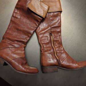 Nine West NiteRacer two-toned riding boots